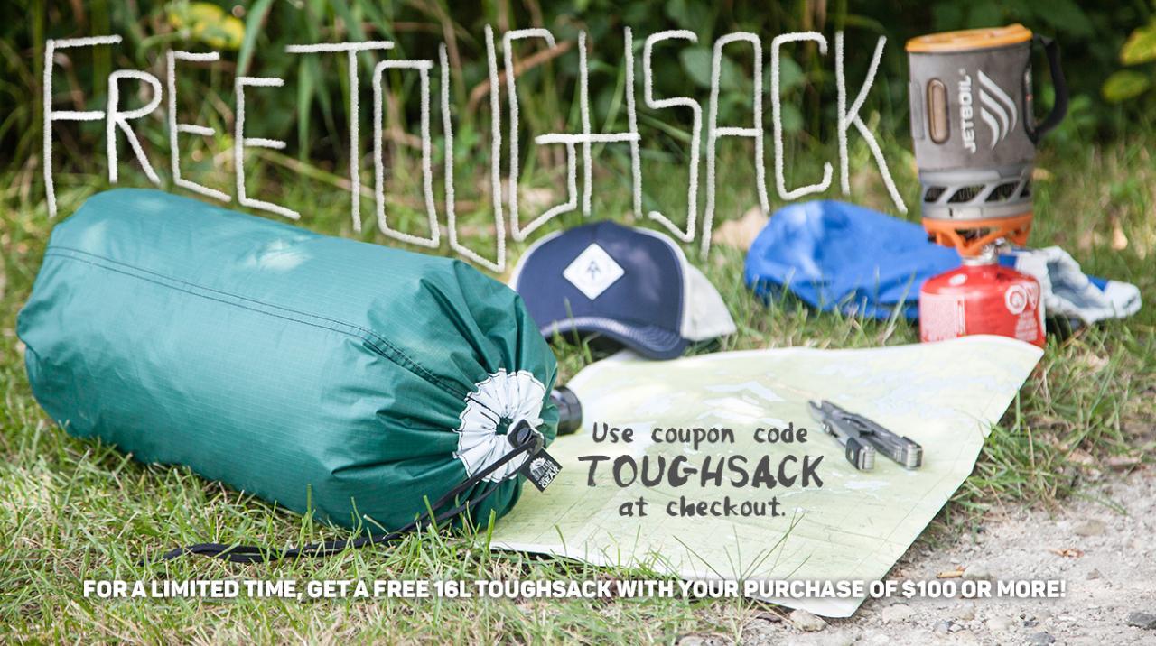 Free 16L Toughsack!