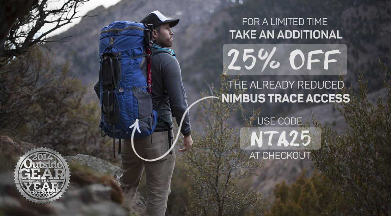 25% Off Nimbus Trace Access Packs!